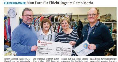 Kleiderkammer St. Sebastian spendet erneut für Moria